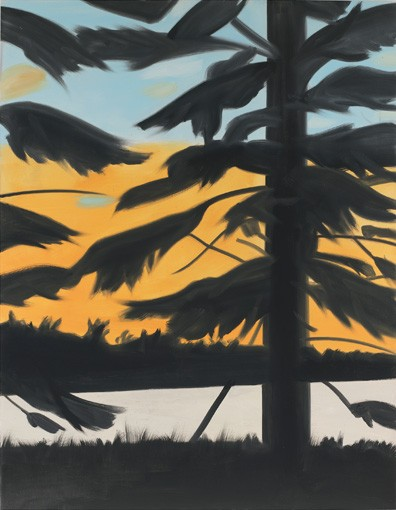 Alex Katz, Sunset 1, 2008, oil on linen, 9x7 feet