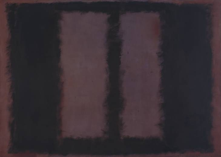 Mark Rothko, Black on Maroon, 1958, mixed media on canvas, 105x150 inches